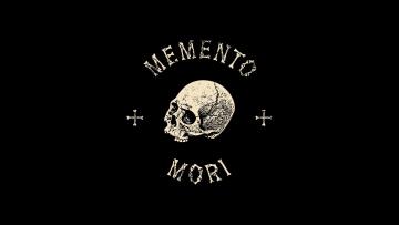 обоя рисованное, минимализм, desktop, black, wallapers, death, latin, saying, bones, skull, cross