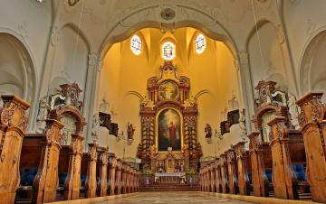 обоя интерьер, убранство,  роспись храма, собор