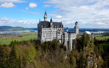 обоя neuschwanstein fairytale castle, города, замок нойшванштайн , германия, замок, панорама