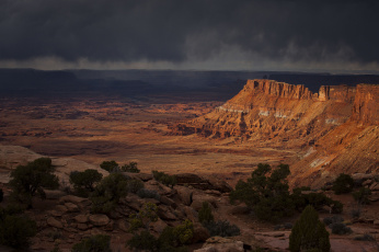 Картинка природа горы камни каньон скала юта америка