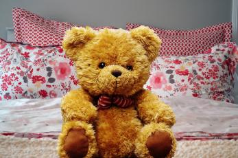 обоя разное, игрушки, мягкая, медвежонок, игрушка, подушки, постель