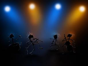 Картинка 3д графика creatures существа дискотека