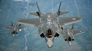Картинка авиация боевые+самолёты f-35a lightning оружие самолёты