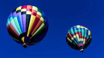 обоя авиация, воздушные шары, пара, двойка