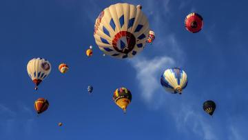 обоя авиация, воздушные шары, спорт, шары, небо
