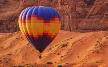 обоя авиация, воздушные шары, шар, воздушный, разноцветный, горы