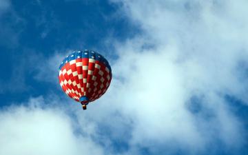 обоя авиация, воздушные шары, звездно-полосатый