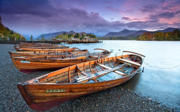 Картинка корабли лодки шлюпки река закат
