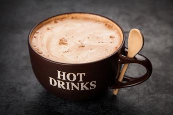 обоя еда, кофе,  кофейные зёрна, какао, корица, шоколад, напиток