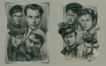 обоя рисованное, кино, советское, графика, наше