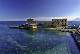 Картинка италия сицилия санта флавия города амальфийское лигурийское побережье дома море
