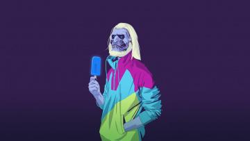 Картинка рисованные минимализм куртка мороженое существо фон