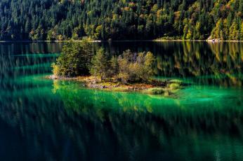Картинка природа реки озера островок река лес