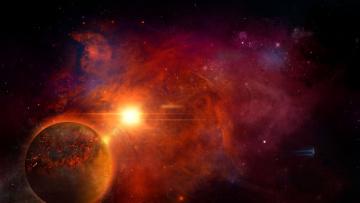 Картинка космос арт mothership звёзды планета remastered homeworld