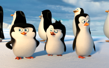 Картинка мультфильмы the+penguins+of+madagascar глаза пингвины клюв