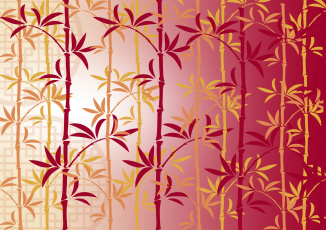 обоя векторная графика, природа , nature, бамбук, узор, китаи, chinese, lunar, new, year