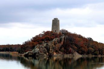 обоя города, - дворцы,  замки,  крепости, башня, озеро, остров