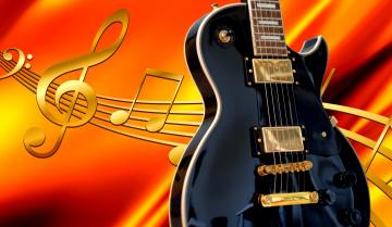 обоя музыка, -музыкальные инструменты, ноты, гитара