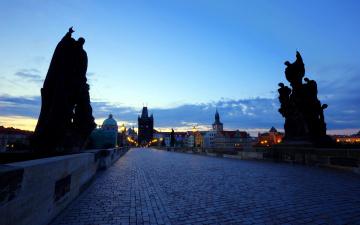 обоя города, прага , Чехия, карлов, мост