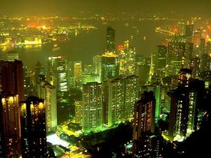 обоя города, гонконг, китай