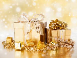 Картинка праздничные подарки+и+коробочки подарки бусы мишура