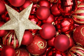 Картинка праздничные украшения звезда шарики игрушки