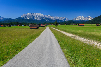 Картинка bavaria +germany природа дороги germany alps бавария германия альпы горы дорога деревня