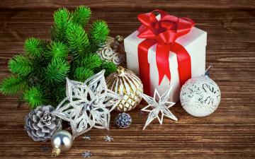 Картинка праздничные подарки+и+коробочки merry decoration christmas рождество новый год украшения wood подарок елка шары