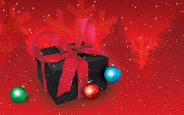 Картинка праздничные векторная+графика+ новый+год шары подарок