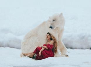 обоя разное, компьютерный дизайн, девушка, зима, модель, красотка, снег