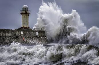 обоя природа, стихия, прибой, шторм