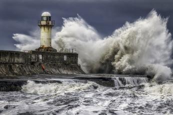 обоя природа, стихия, шторм, прибой