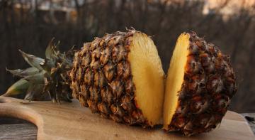 обоя еда, ананас, плод