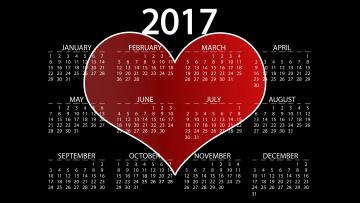 обоя календари, рисованные,  векторная графика, сердечко