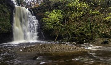 обоя природа, водопады, река, лес, водопад