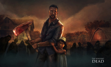 обоя видео игры, the walking dead,  the game, action, адвенчура, the, walking, dead