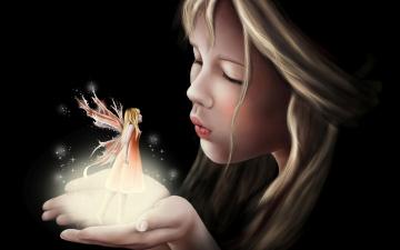 Картинка фэнтези феи сказка фентези крылья фейка девочка арт