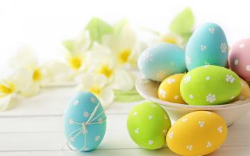 Картинка праздничные пасха delicate flowers eggs easter цветы яйца pastel