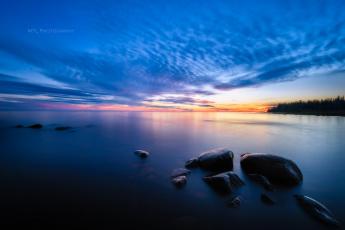 обоя природа, побережье, море, облака, камни