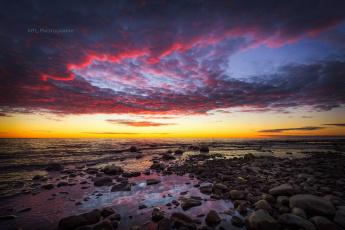 обоя природа, восходы, закаты, облака, камни, море