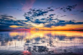 обоя природа, восходы, закаты, водоем, закат, облака