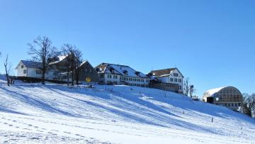 обоя города, - пейзажи, дома, снег