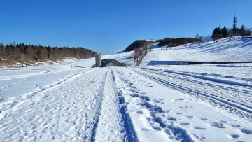 обоя природа, зима, холмы, снег