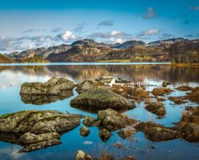 Картинка природа реки озера горы озеро камни