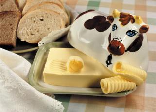 Картинка еда масло +молочные+продукты корова хлеб