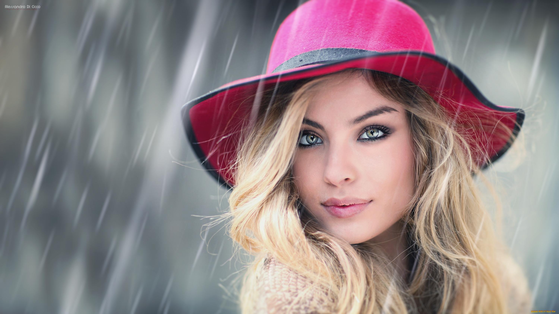 француженка в красной шляпе  № 156073  скачать