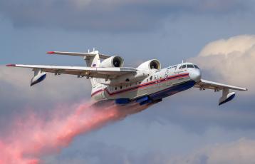 обоя be-200, авиация, самолёты амфибии, пожарный