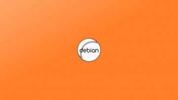 обоя компьютеры, debian, фон, логотип