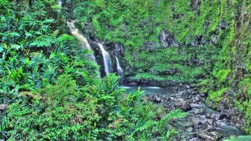 обоя природа, водопады, водопад, скала