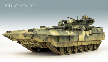 обоя техника, 3d, модель, бмп, армата, t-15, боевая, машина, пехоты